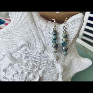 Jade Linear Drop Earrings